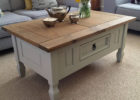 shabby chic coffee table with storage