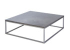 simple grey gloss coffee table with metal legs