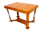 small modern wooden fold up coffee table