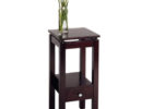 small tall black wooden living room end tables