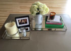 small twin mirrored coffee table tray