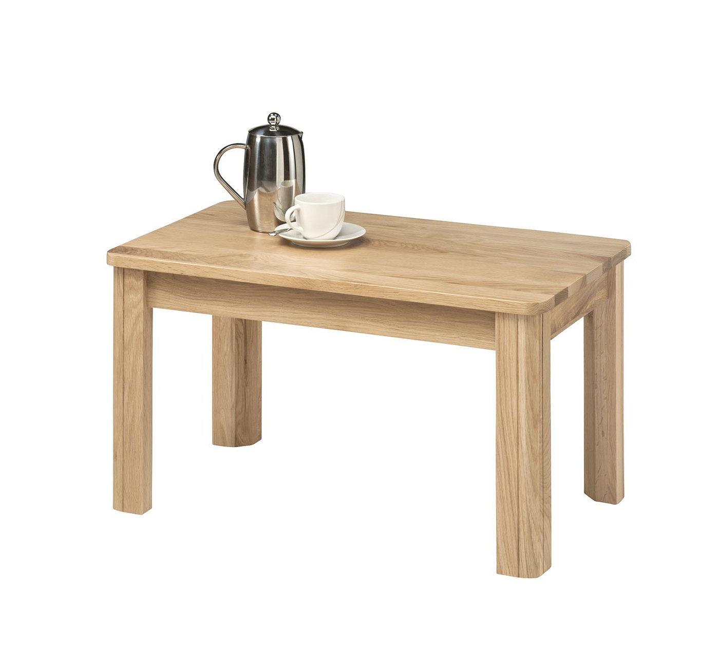 Small White Minimalist Oak Furniture Land Coffee Tables