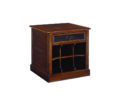 small wolid oak wood living room end tables with storage designs