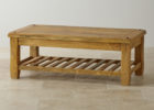 small wooden average coffee table size