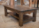 solid reclaimed wood rustic coffee table