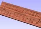 square cribbage board coffee table template