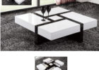 unique black white gloss coffee table Ikea with storage ideas