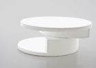 unique round modern white gloss coffee table Ikea