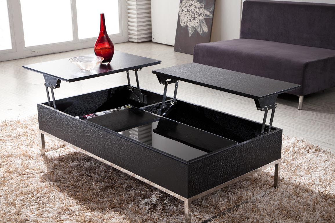 unsual modern black adjustable living room coffee tables