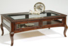 vintage solid wood coffee table Ikea Uk with glasses ideas