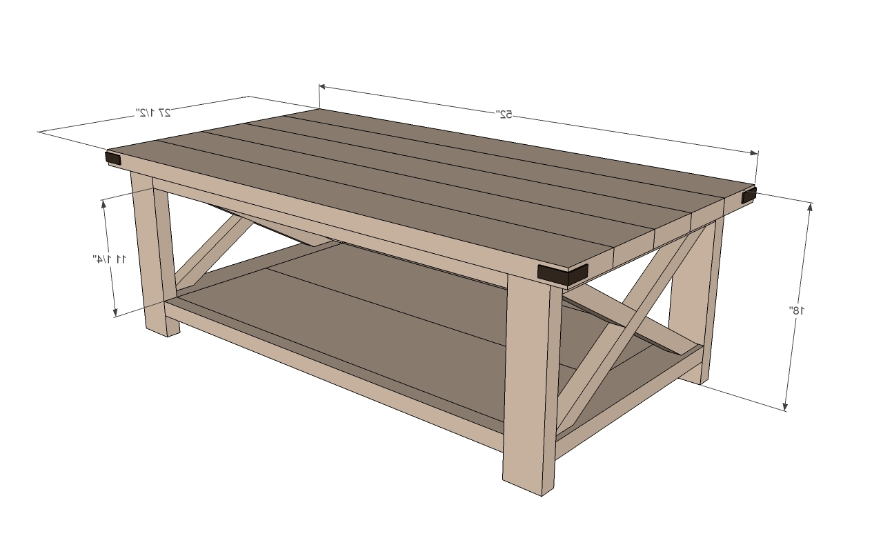 Average Coffee Table Size Furniture