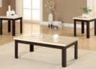 white marble cheap end tables and coffee table sets