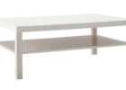 white rectangle average coffee table size