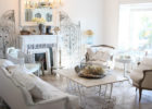 white vintage shabby chic coffee table