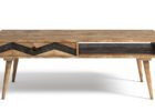 wood rectangle average coffee table size