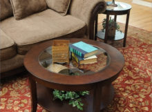 30 inch round coffee table glass top collection