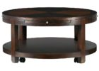 30 inch round coffee table with drawer