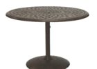 60 inch round pedestal dining table for patio furniture