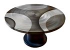 60 inch round pedestal dining table with leaf furniture