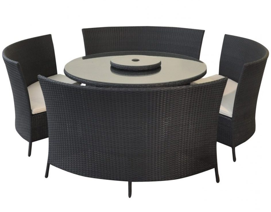 awesome black curved bench for round dining table