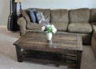 awesome dark wood coffee table set