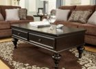 awesome dark wood coffee table set with storage