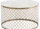 awesome gold round quatrefoil coffee table