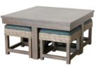 awesome grey wash coffee table with ottoman
