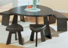 best black curved bench for round dining table