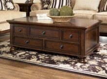 best cherry dark wood coffee table set with storage