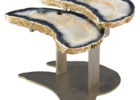 best citrine geode coffee table set