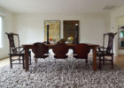 best images of area rug under dining table