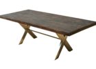 best reclaimed wood dining table with metal legs