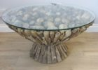 best round glass driftwood coffee tables for sale