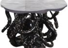 black bronze octopus coffee table