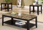 black coffee and end table sets faux marble top