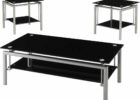 black coffee and end table sets metal legs