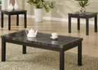 black coffee and end table sets with faux marble