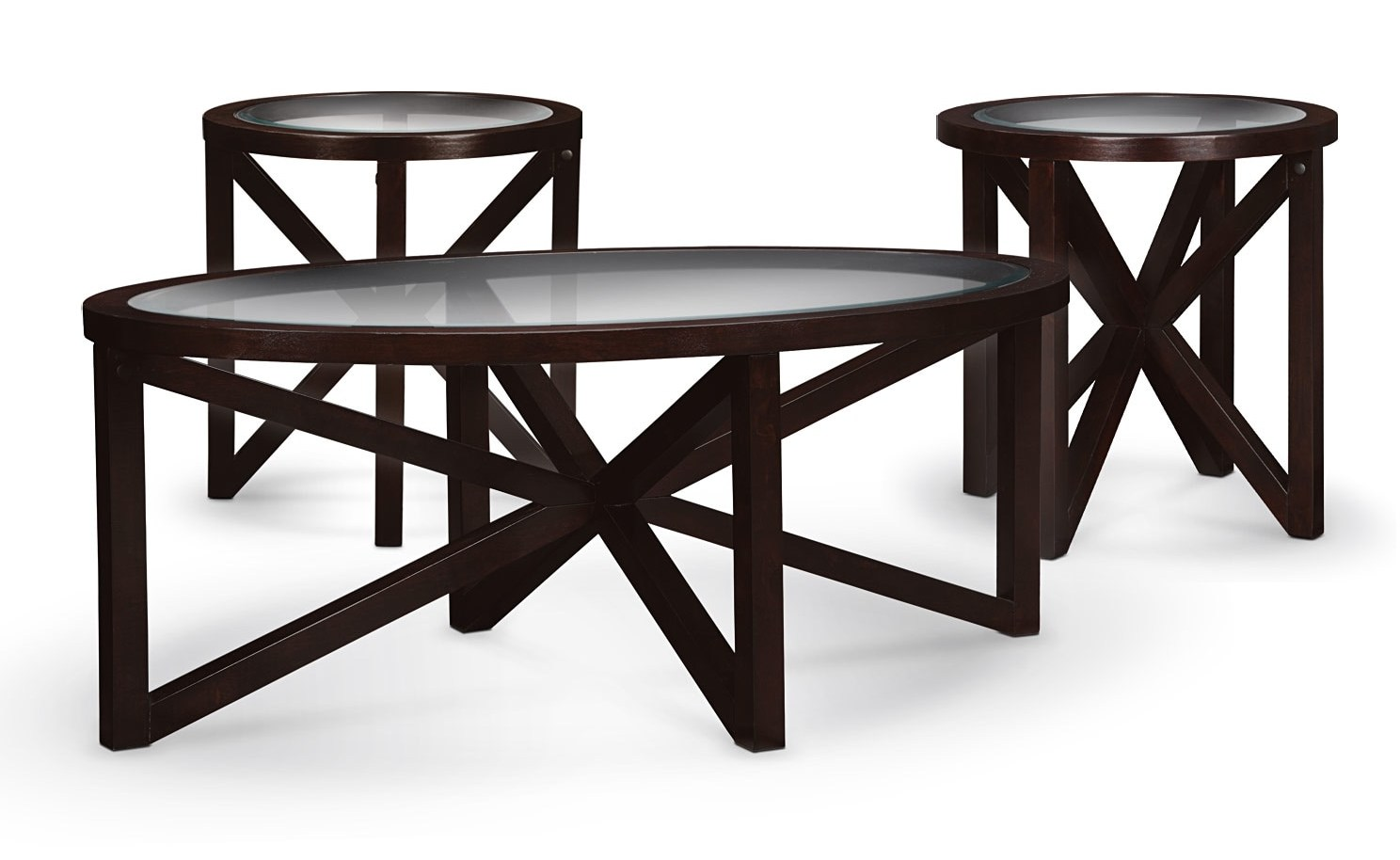 black coffee and end table sets with glass