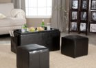 black coffee and end table sets with ottoman