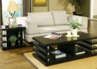 black coffee and end table sets with storage