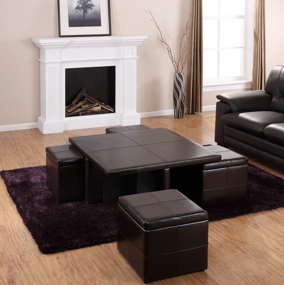 Coffee Table With Pull Out Ottomans Seat
