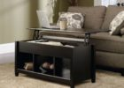 black lift top coffee tables with storage