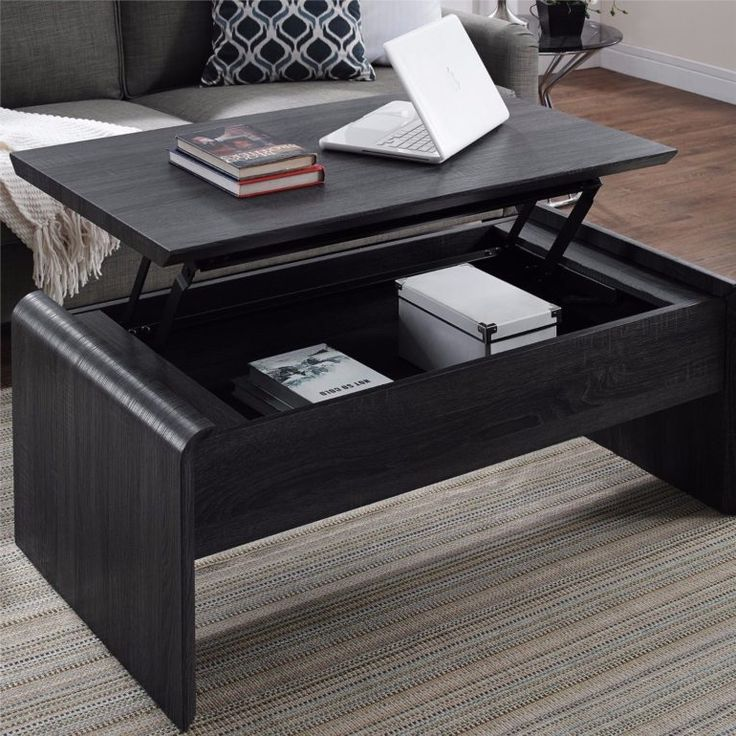Black Coffee Table With Storage Uk: Lift Top Coffee Tables With Storage