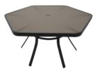 black outdoor coffee table with umbrella hole