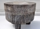 black round moroccan style coffee table