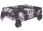 black skull coffee table cover