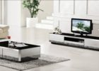 black tv stand and coffee table set