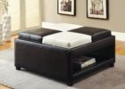 black white leather ottoman coffee table with storage ideas