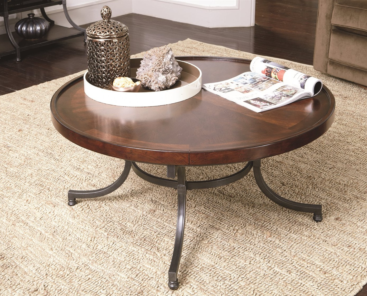 black wood 30 inch round coffee table collection